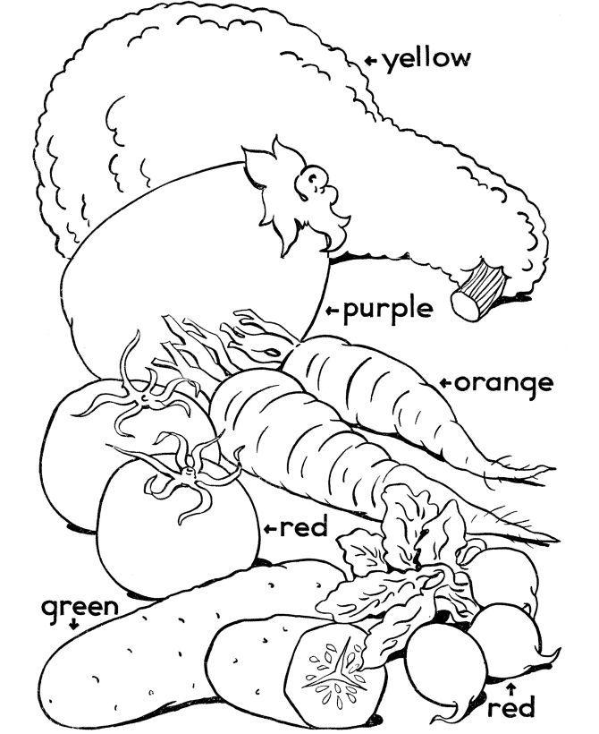 Color The Vegetables Worksheet