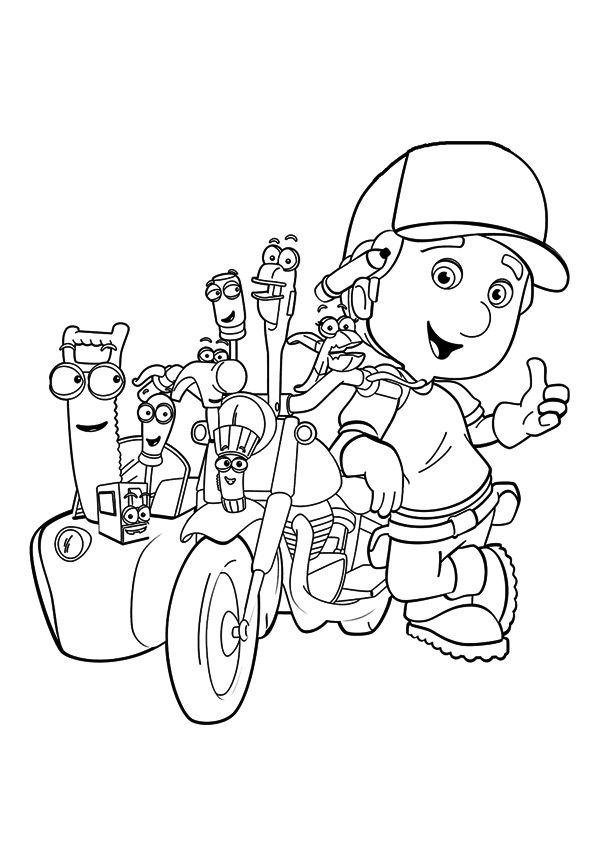 Cute Construction Cartoon Coloring Page
