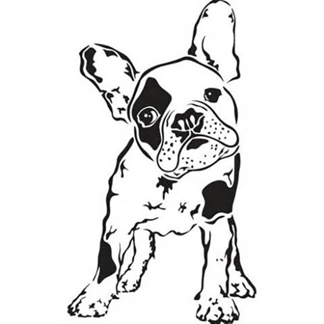 Cute French Bulldog Coloring Page