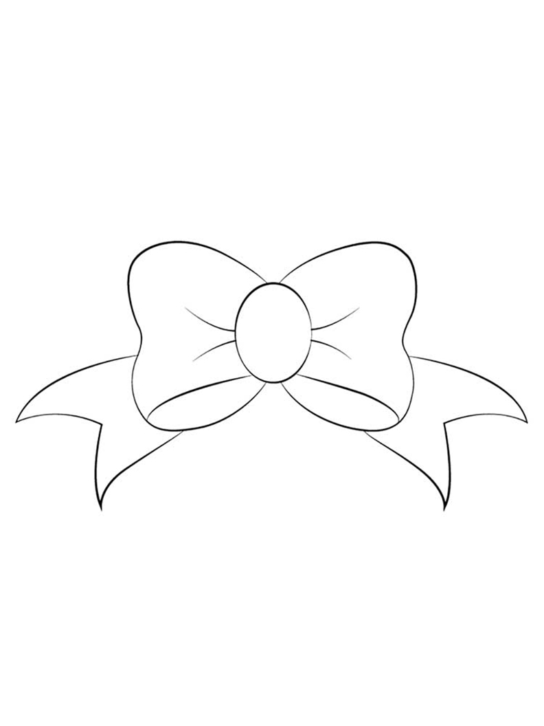 Easy Bow Coloring Page