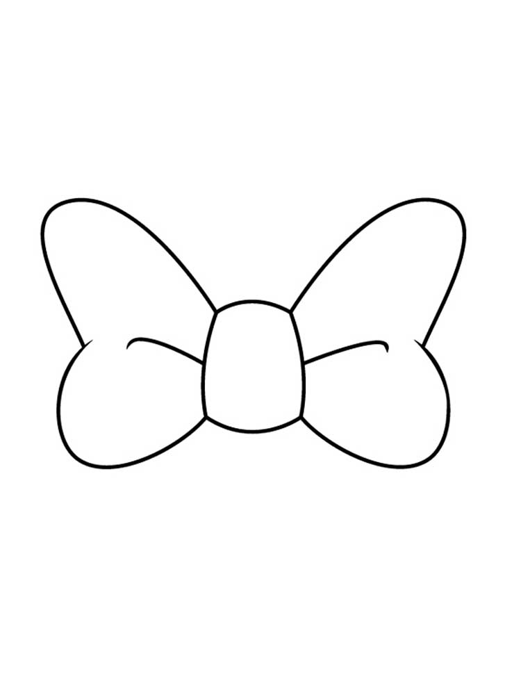 Easy Bow Coloring Pages