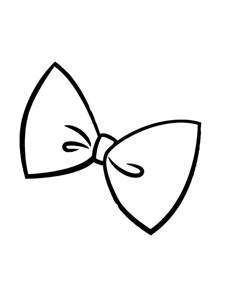 Easy Hairbow Coloring Page