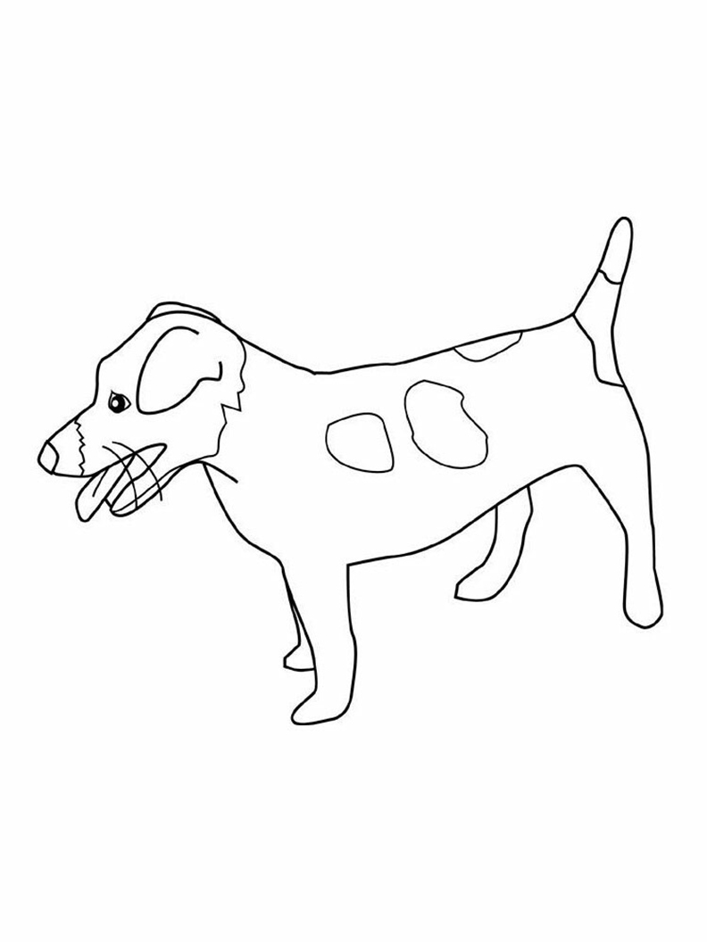 Easy Jack Russell Coloring Pages