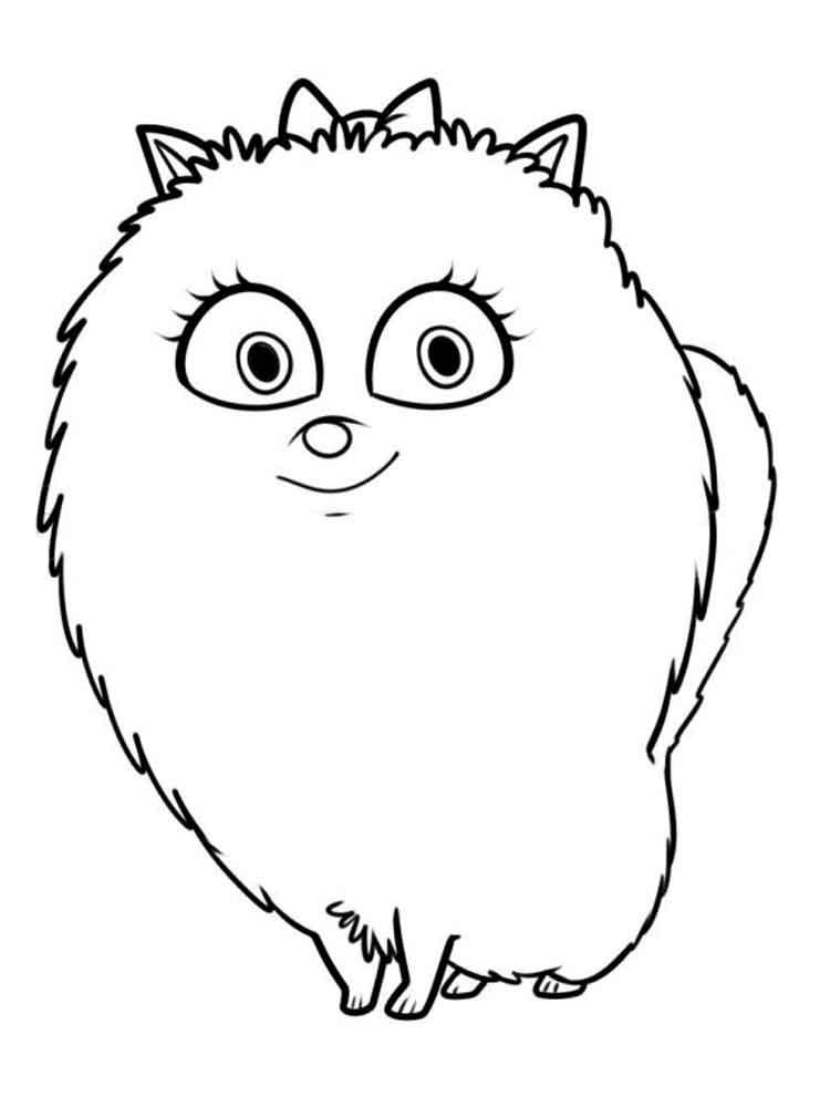 Gidget Pomeranian Coloring Page