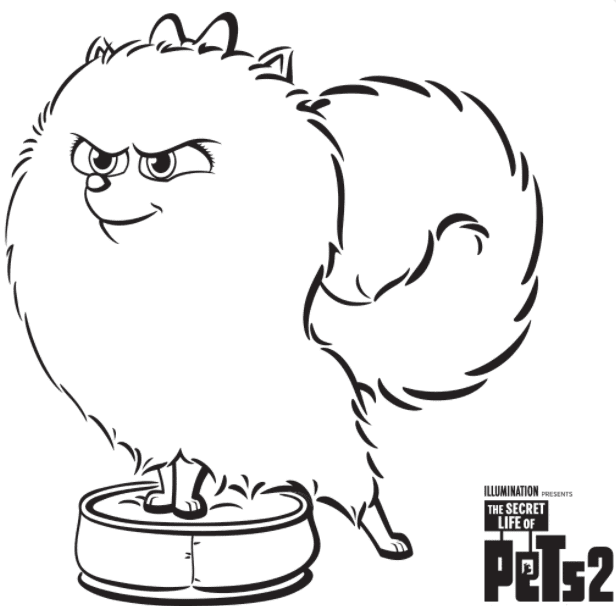 Gidget Secret Life Of Pets Coloring Page