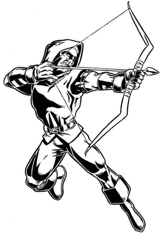 Green Arrow Coloring Page