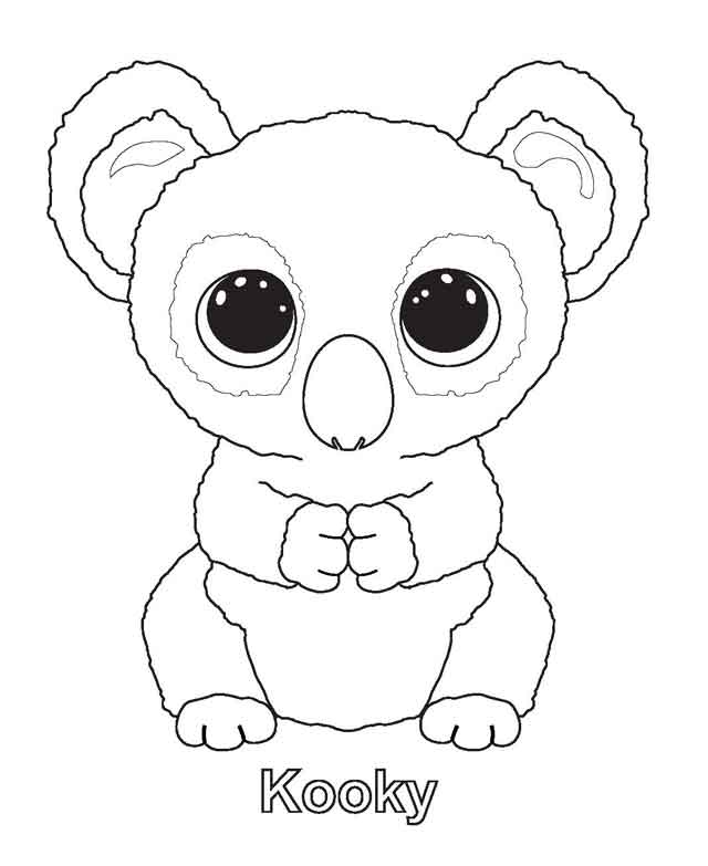 Kooky Beanie Boo Coloring Pages