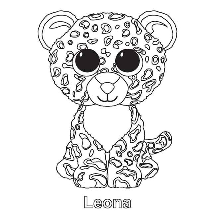 Leona Beanie Boo Coloring Pages