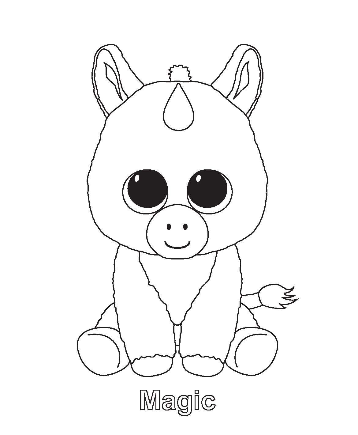 Magic Beanie Boo Coloring Pages