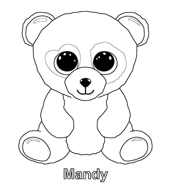 Mandy Beanie Boo Coloring Pages