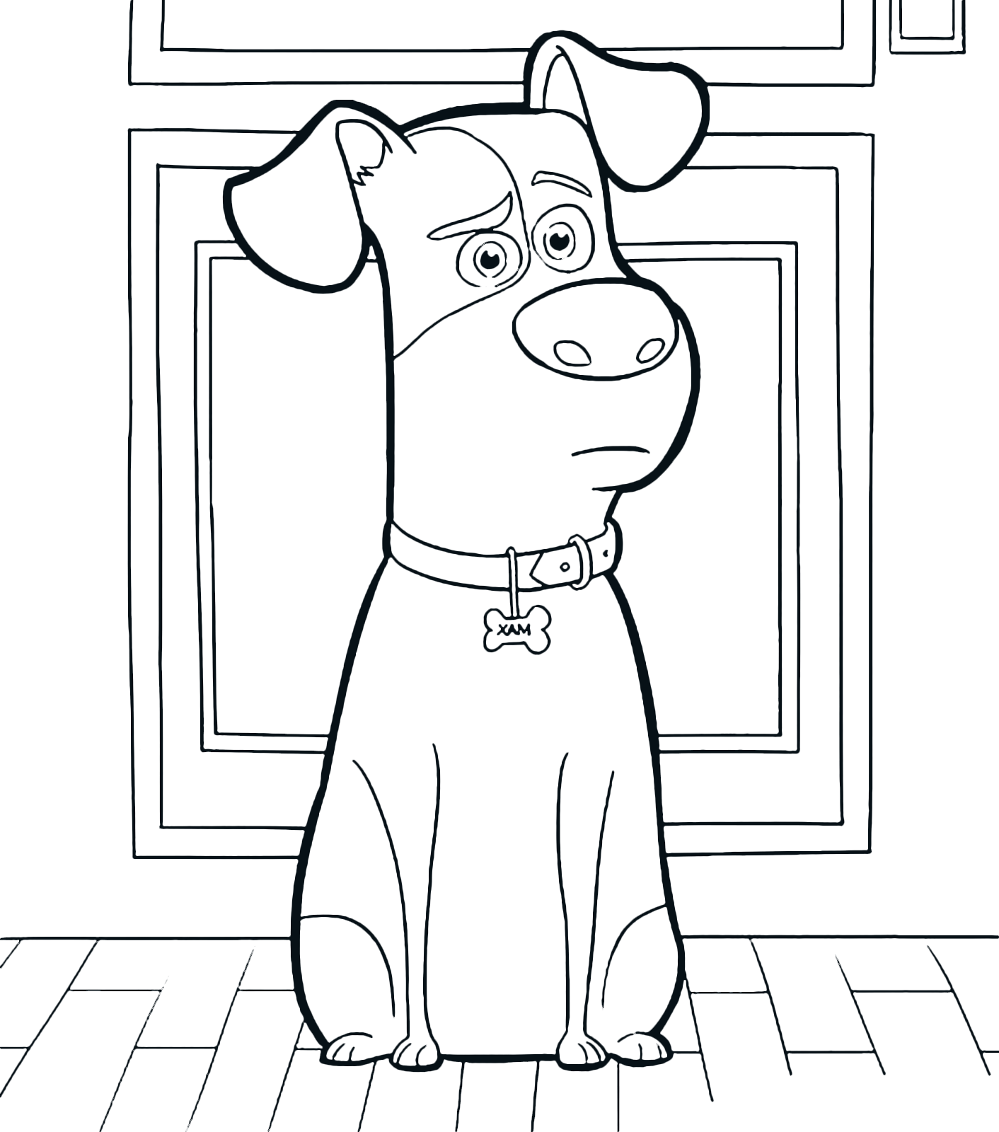 Max Secret Life Of Pets Coloring Page