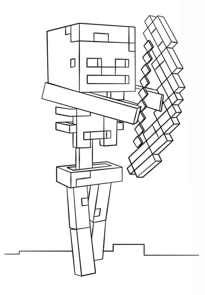 Minecraft Arrow Coloring Page