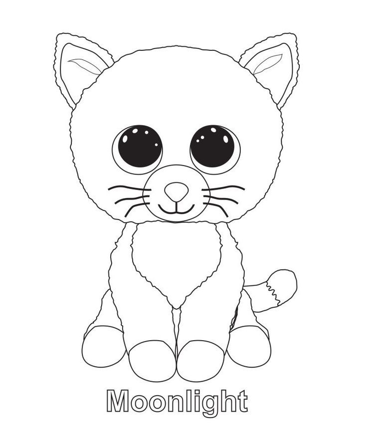 Moonlight Beanie Boo Coloring Pages