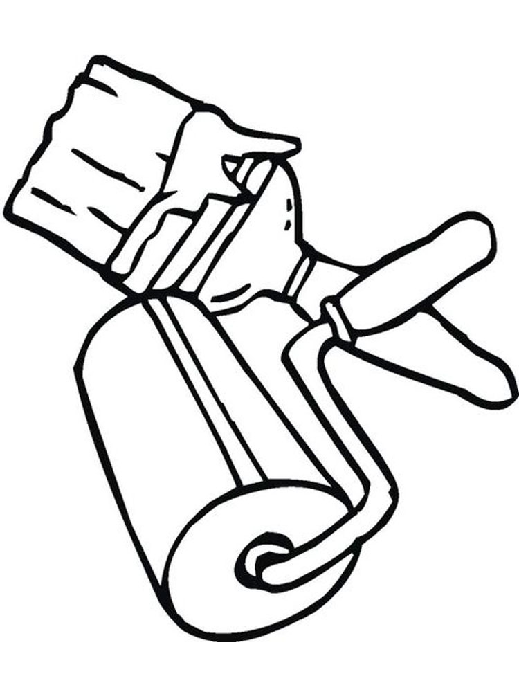 Painting Tools Coloring Pages