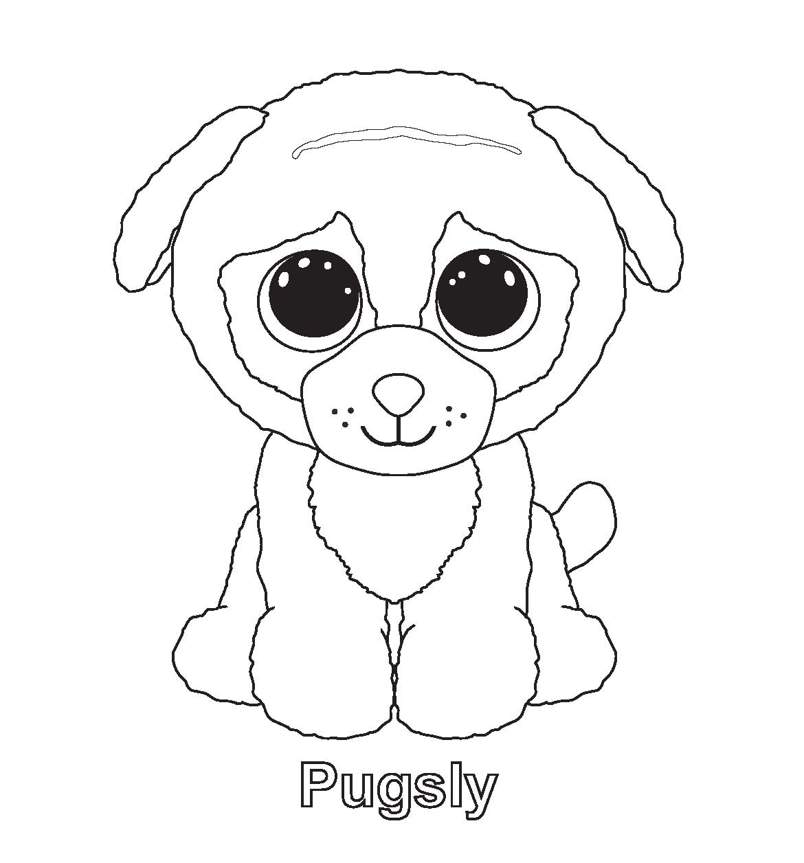 Pugsly Beanie Boo Coloring Pages
