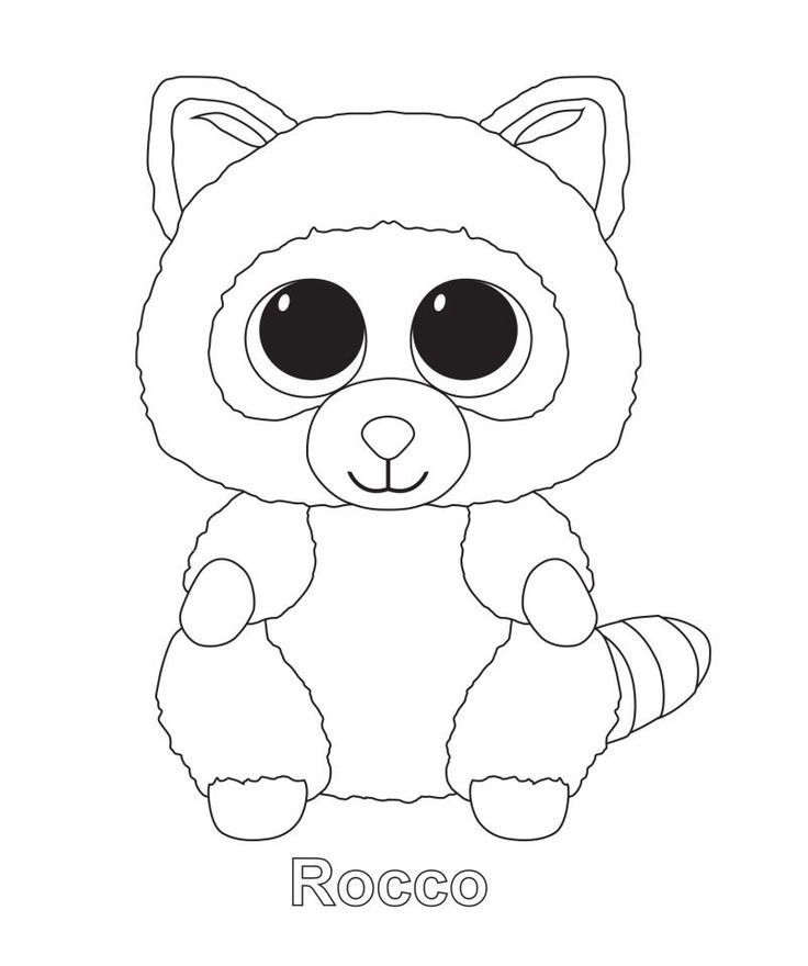 Rocco Beanie Boo Coloring Pages