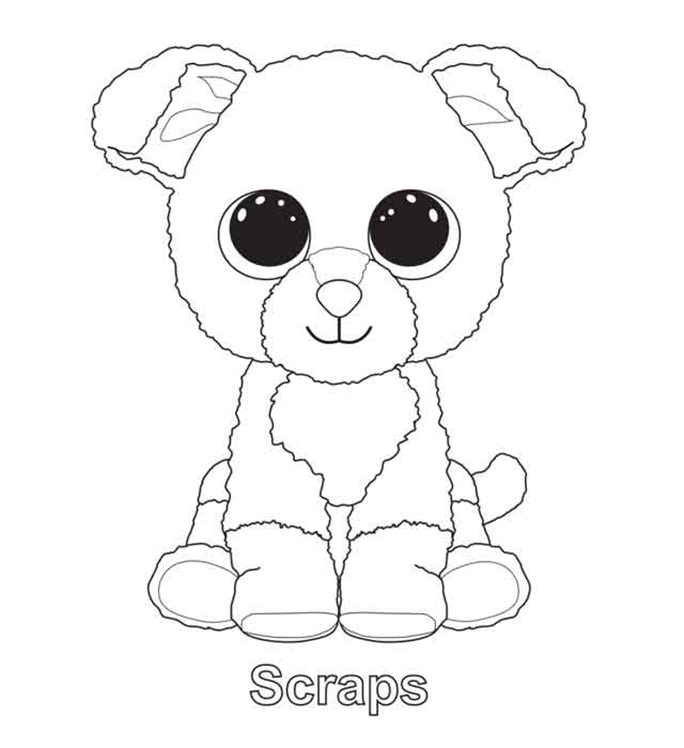 Scraps Beanie Boo Coloring Pages