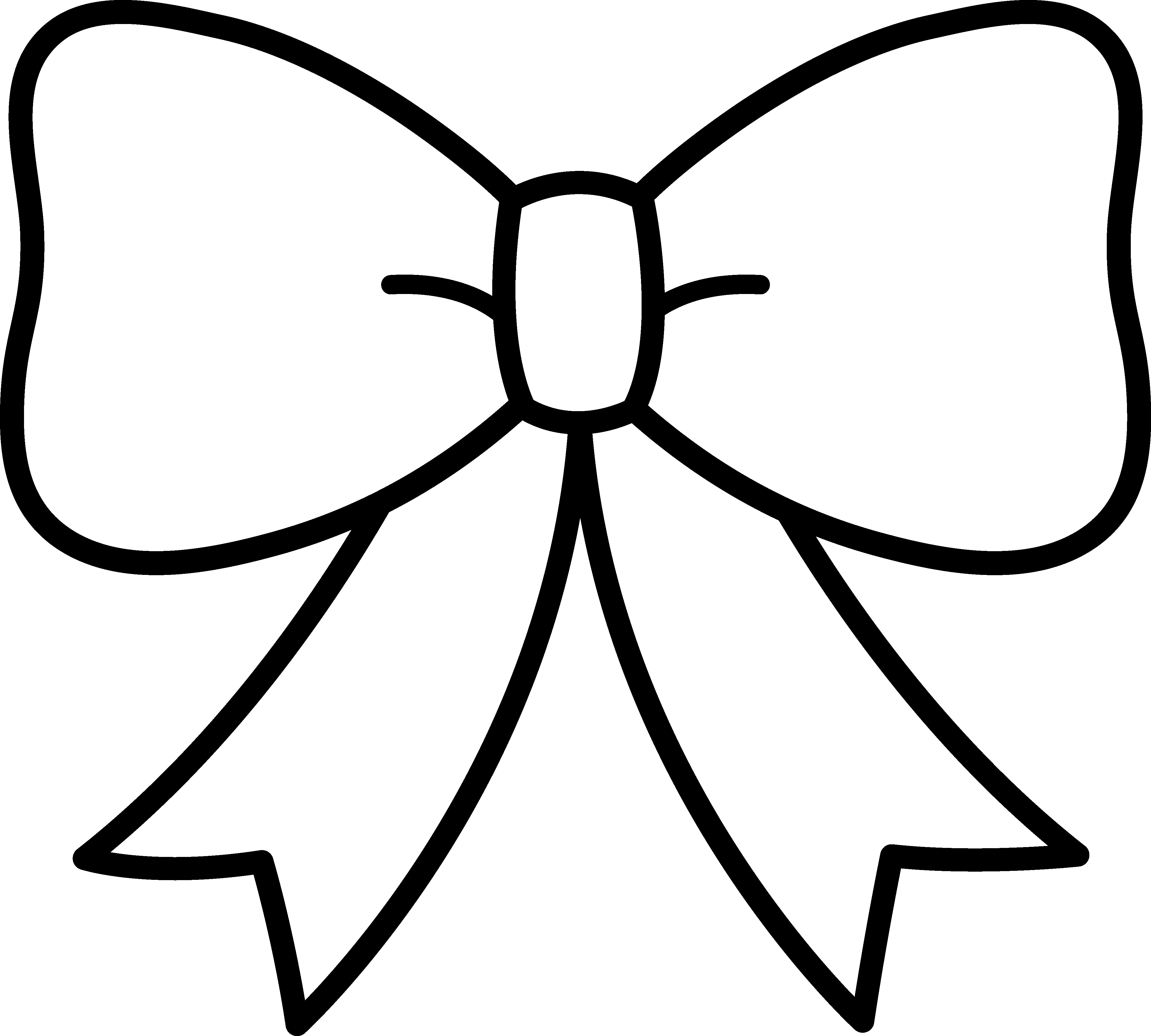 Simple Bow Coloring Page