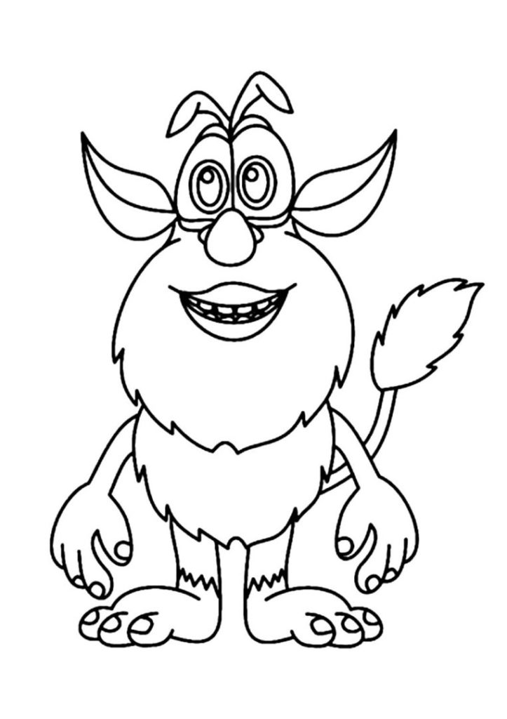 Smiling Booba Coloring Pages