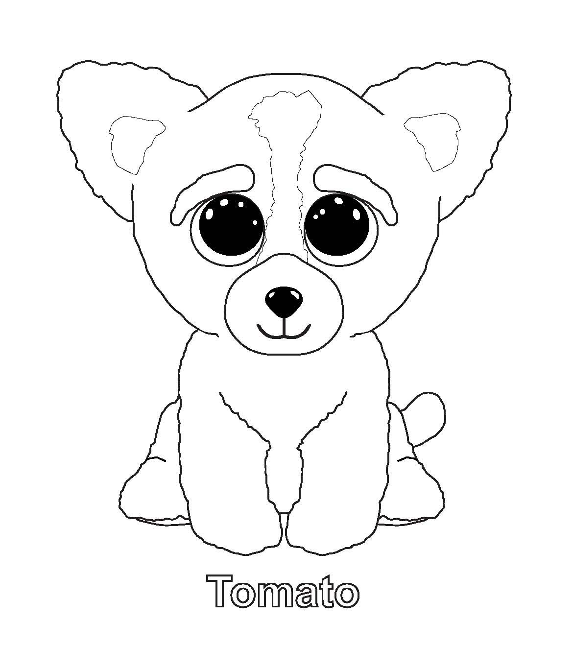 Tomato Beanie Boo Coloring Pages