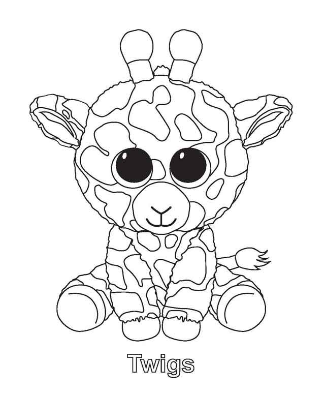 Twigs Beanie Boo Coloring Pages