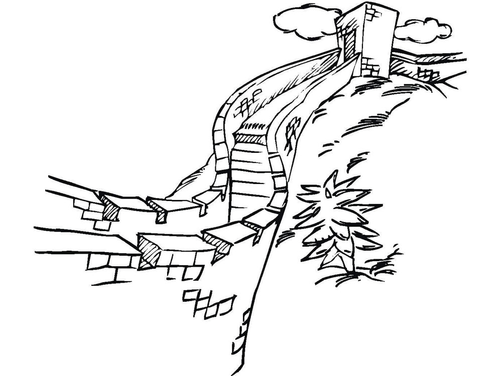 Wall Coloring Page