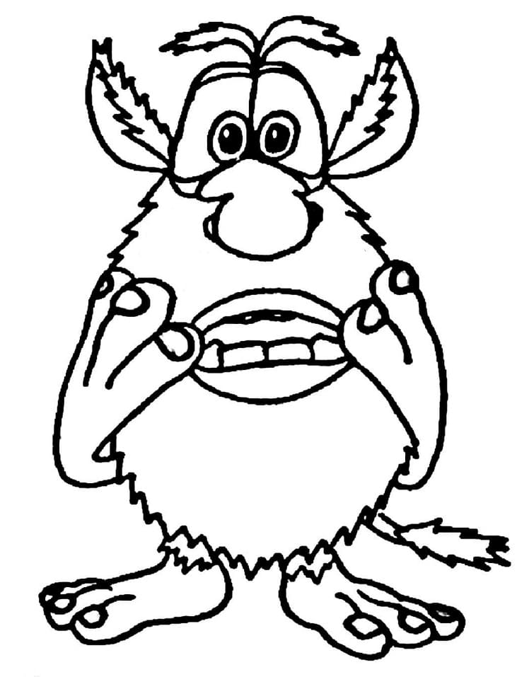 Worried Booba Coloring Page