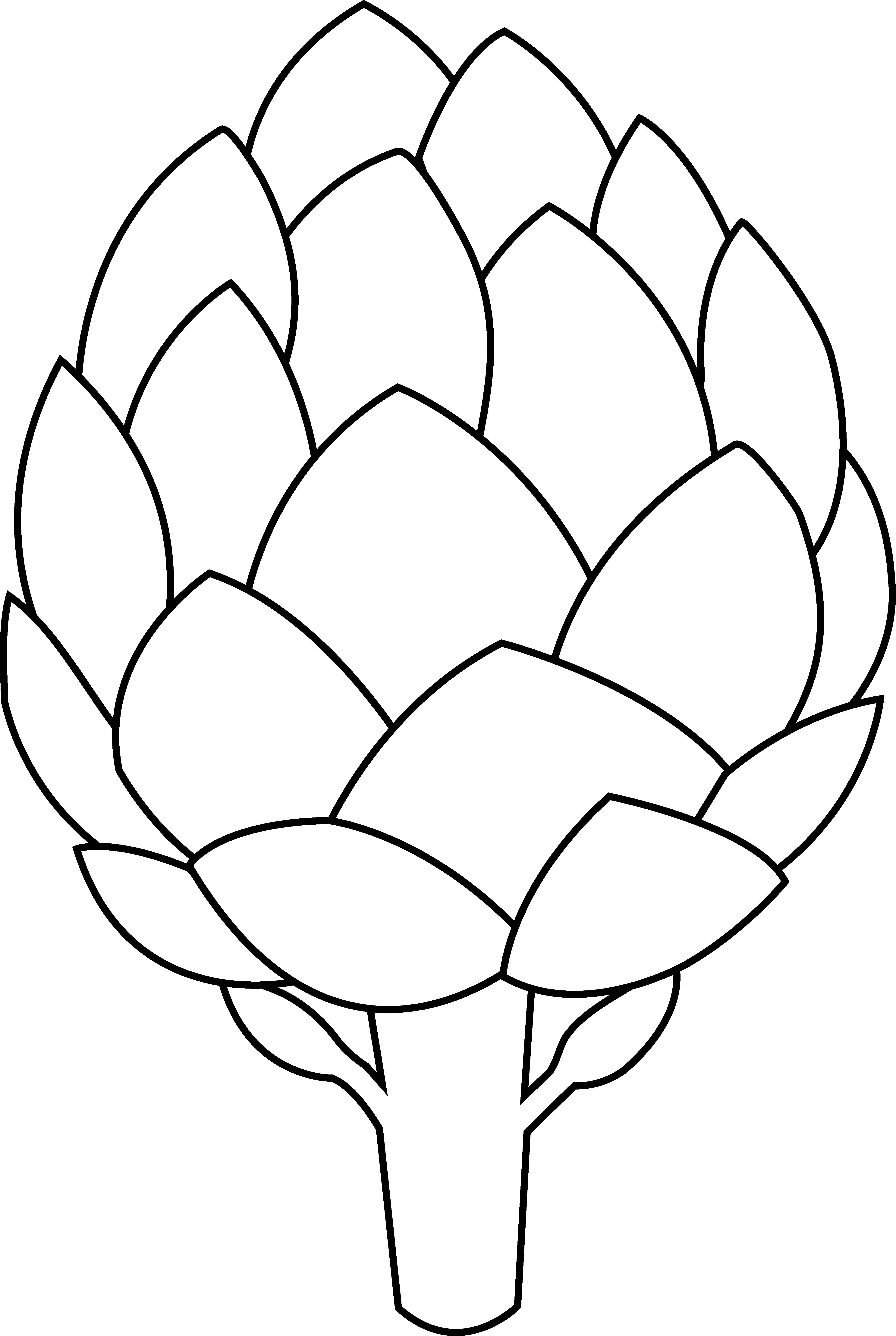 Artichoke Coloring Pages