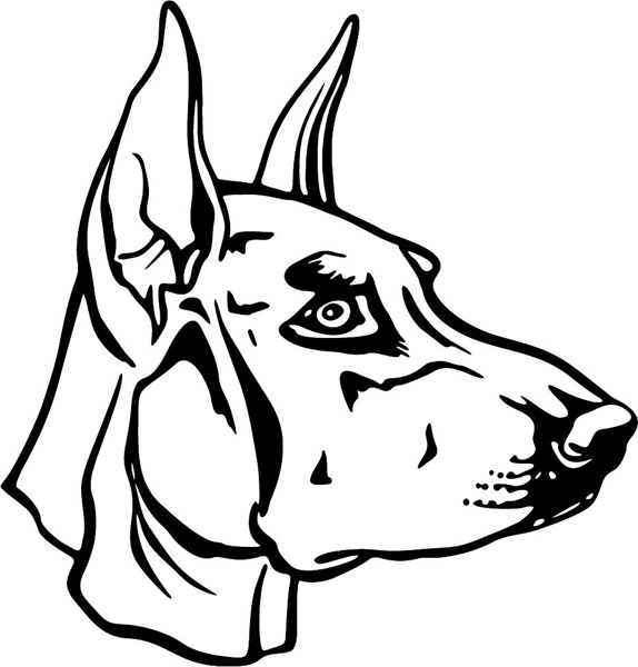 Doberman Head Coloring Page