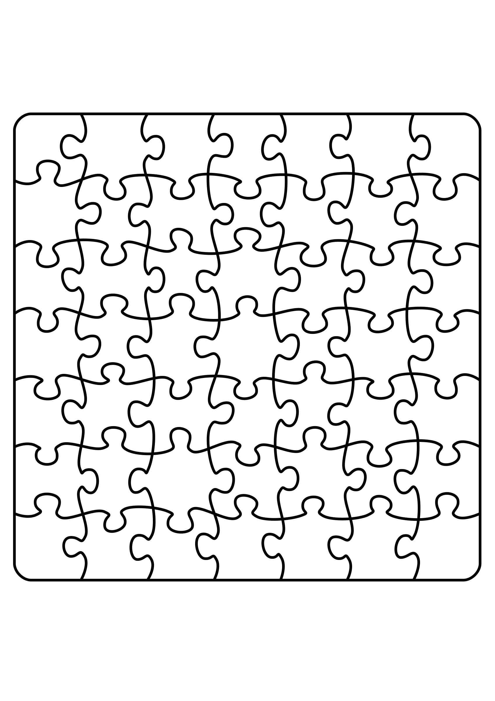 Jigsaw Puzzle Coloring Pages