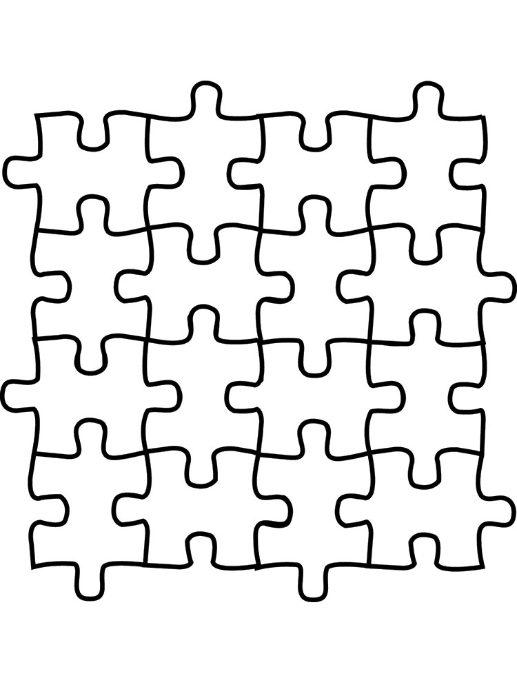 Jigsaw Puzzle Pieces Coloring Pages